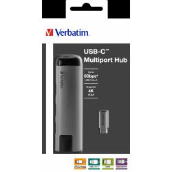 Priklopna postaja Verbatim USB-C  2x USB.30+ HDMI + RJ45 49141