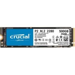 SSD disk 500GB M.2 80mm PCI-e 3.0 x4 NVMe, 3D QLC, CRUCIAL P2