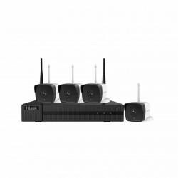 Video nadzorni brezžični sistem komplet 2MP, 1TB WD HDD, IK-4142B-MH/W Hilook