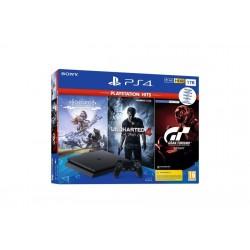 Igralna konzola Playstation PS4 1TB set + Hits igre (GT Sport-HZD CE-UC4)