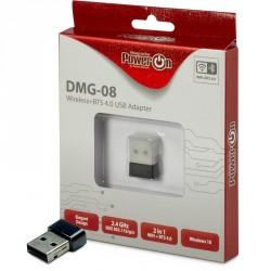 Brezžična mrežna kartica INTER-TECH DMG-08, 150Mbps, BT, USB