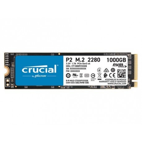 SSD disk 1TB NVMe Crucial P2, CT1000P2SSD8