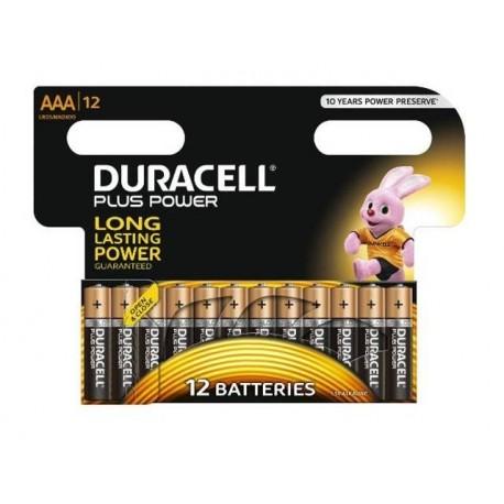 Alkalne baterije Duracell Plus Power MN2400B12 AAA (12 kos)