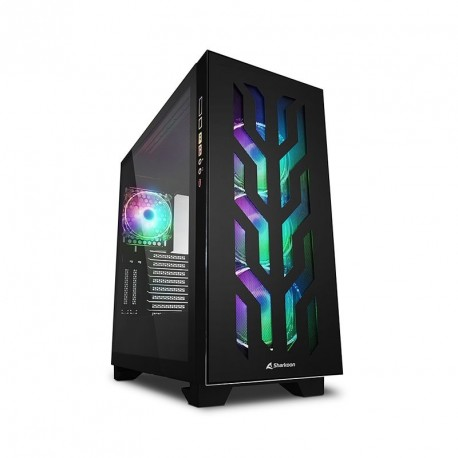 Ohišje ATX SHARKOON ELITE SHARK CA300T RGB, okno, črno