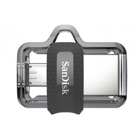 USB ključek 256GB SanDisk ULTRA DUAL, srebrno-črn