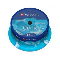 Mediji CD-R 700MB 52x Verbatim extra protection Cake-25 (43432)