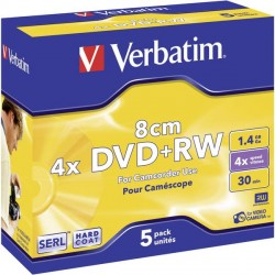 Mediji Verbatim DVD+RW 8cm 4x 1.46GB 5PK (43565)