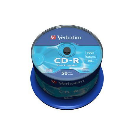 Mediji CD-R 700MB 52x Verbatim extra protection Cake-50 (43351)