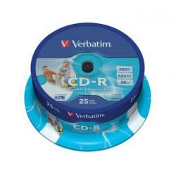 Mediji CD-R 700MB 52x Verbatim InkJet Spindle-25, ID (43439)