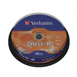 Mediji DVD-R 4.7GB 16x Verbatim Spindle-10 (43523)