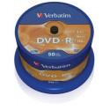 Mediji DVD-R 4,7GB 16x Verbatim Spindle-50 (43548)