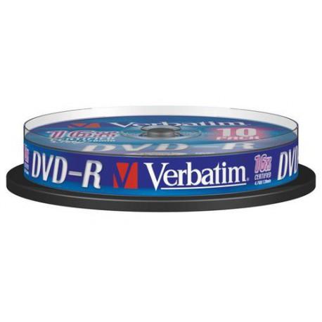 Mediji DVD-R 4,7GB 16x Verbatim Slim-5 (43557)
