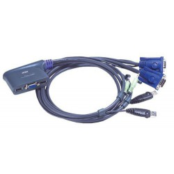 Preklopnik 2:1 mini vga/USB/AUDIO, Aten CS62US, s kabli