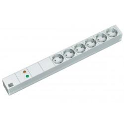 Razdelilec 48cm 6x 220V ALU prenapetostna zaščita + filter BM