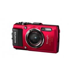 Digitalni kompaktni fotoaparat OLYMPUS TG-4 rdeč barve (V104160RE000)