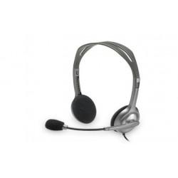 Slušalke z mikrofonom Logitech H110 stereo