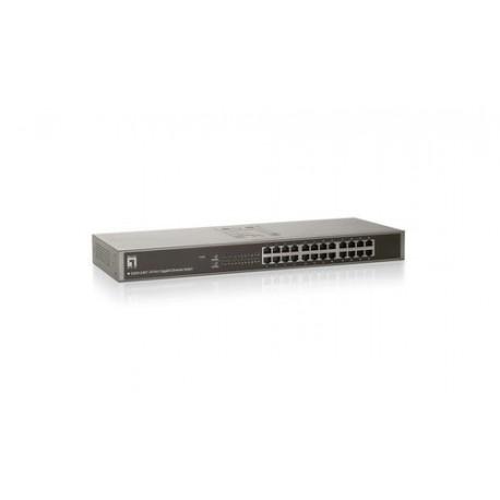 """Stikalo (switch) 24 port 10/100/1000, LevelOne GSW-2457, 19"""" montaža"""