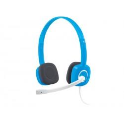 Slušalke z mikrofonom Logitech H150 modre