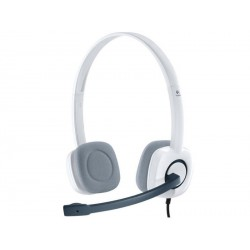 Slušalke z mikrofonom Logitech H150 bele