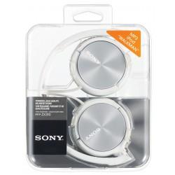 Slušalke naglavne SONY MDRZX310W bele, MDRZX310W.AE