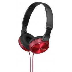 Slušalke naglavne SONY MDRZX310R rdeče, MDRZX310R.AE