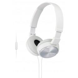 Slušalke naglavne SONY MDRZX310APW, bele barve, MDRZX310APW.CE7