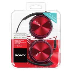 Slušalke naglavne SONY MDRZX310APR, rdeče barve, MDRZX310APR.CE7