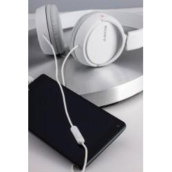 Slušalke naglavne SONY MDRZX110APW,  bele barve, MDRZX110APW.CE7