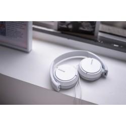 Slušalke naglavne SONY MDRZX110W, bele barve, MDRZX110W.AE