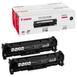 Toner Canon CRG-718Bk, črn, dvojno pakiranje