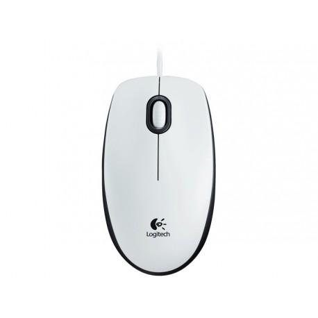 Miška USB optična Logitech M100 bela