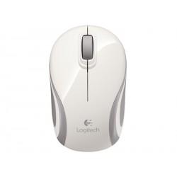 Miška za prenosnik brezžična optična Logitech M187 bela