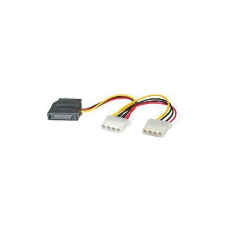 Adapter napajalni za trdi disk SATA->2x molex M/Ž