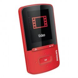 MP4/MP3 predvajalnik 4GB Philips A4VBE04RF, rdeč