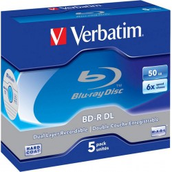Mediji BD-R Dual Layer 50GB 6x White-Blue surface Jewel Case 5 (43748)