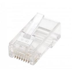 Konektor RJ45 Cat.6+ za UTP mehki kabel, 10 v paketu