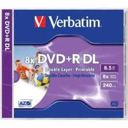 Mediji DVD+R Dual Layer 8.5GB 8x Verbatim InkJet, JC-1 (43665/43664)