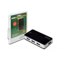 USB HUB 4x USB 3.0 z AC adapterjem, Digitus DA-70231
