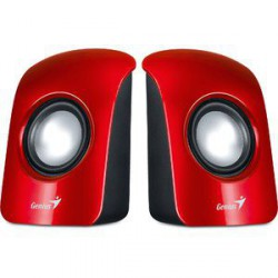 Zvočniki 2.0 1,5W Genius SP-U115 USB rdeči (31731006101)