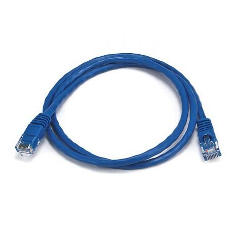 Priključni kabel za mrežo Cat5e UTP 0,5m moder