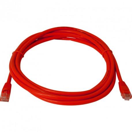 Priključni kabel za mrežo Cat5e UTP 1.5m rdeč