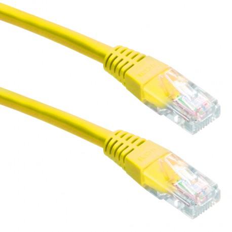 Priključni kabel za mrežo Cat5e UTP 1.5m rumen