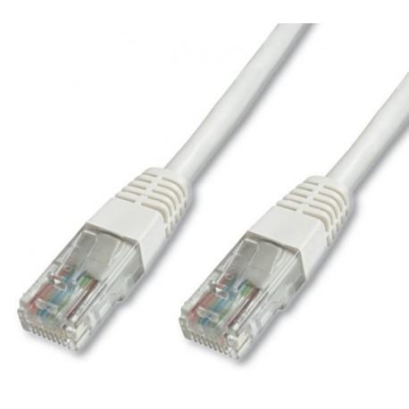 Priključni kabel za mrežo Cat5e UTP 1m bel