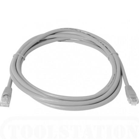 Priključni kabel za mrežo Cat5e UTP 2m siv