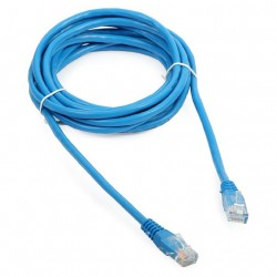 Priključni kabel za mrežo Cat5e UTP 3m moder