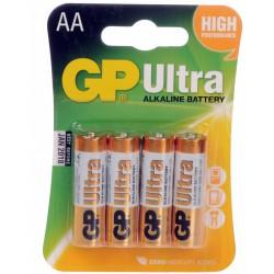 Baterija GP 4xAA / LR6 1,5V alkalna Ultra PLUS