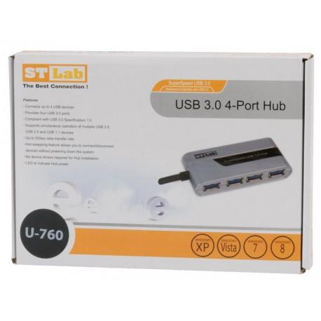 HUB USB 3.0 4x USB 3.0 mini, St-Lab U-760