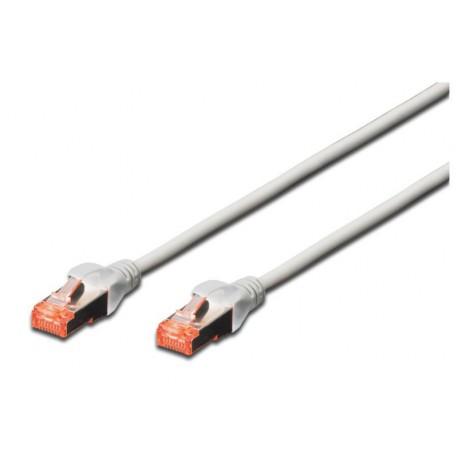 Priključni kabel za mrežo Cat6 S/FTP 1m Digitus siv