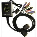 Preklopnik 2:1 mini DVI/USB/AUDIO, Aten CS682, s kabli