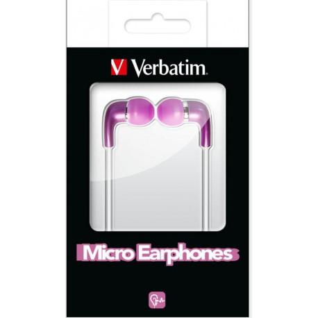 Slušalke ušesne Verbatim Micro, bele, 49113